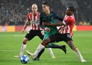 Denzel Dumfries PSV Tottenham Hotspur