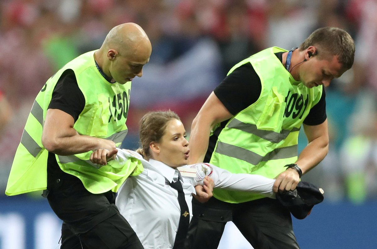 World Cup final France vs Croatia invader Pussy Riot