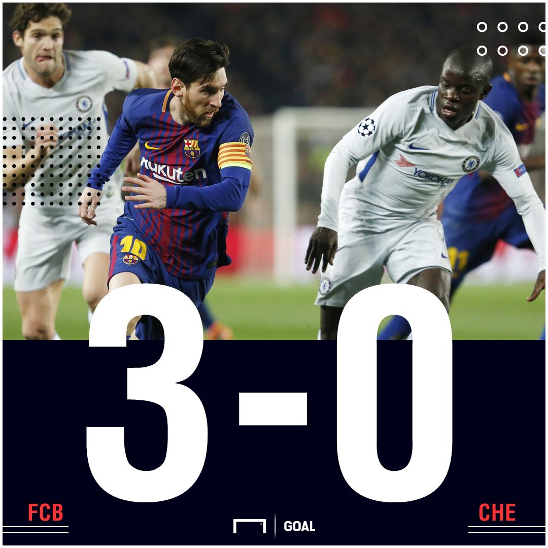 Barca 3-0 Chelsea score