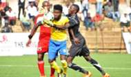 KCCA FC players in action during the Ugandan league.
