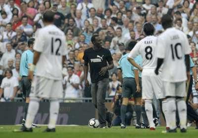 Usain Bolt Real Madrid Santiago Bernabeu