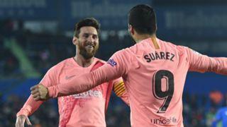 Lionel Messi Luis Suarez Barceona Getafe