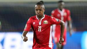 Francis Kahata of Kenya during the 2019 Africa Cup of Nations Finals.
