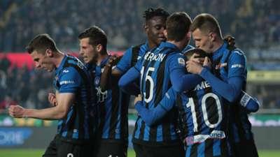 Atalanta celebrating Fiorentina Serie A