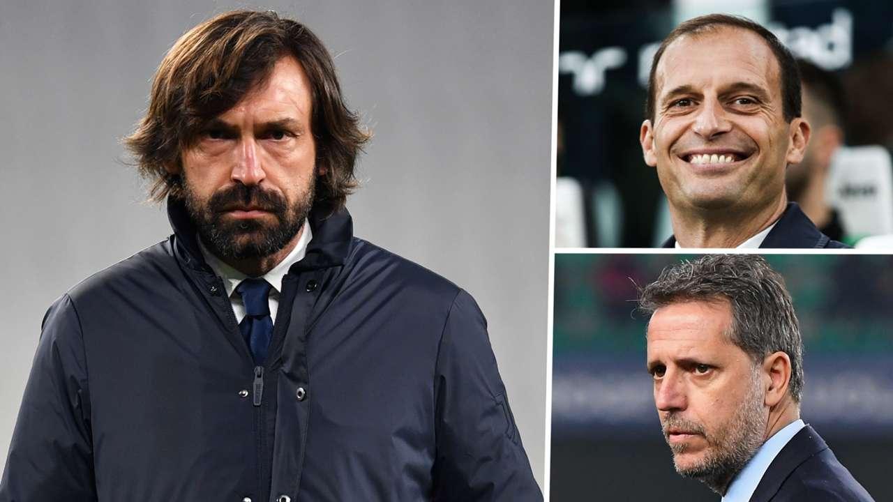 Andrea Pirlo Max Allegri Fabio Paratici Juventus GFX