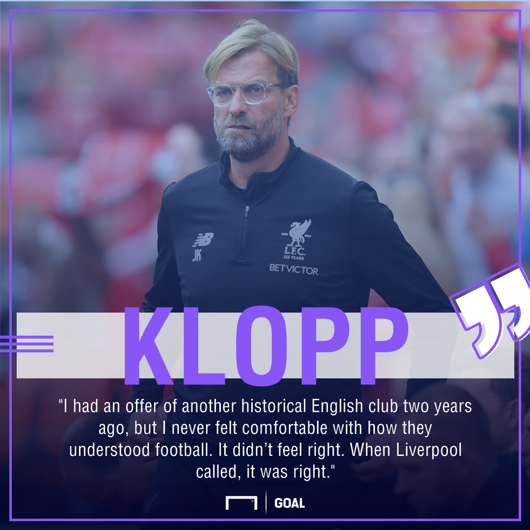 Jurgen Klopp Liverpool turned down rival