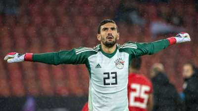 Mohamed El-Shenawy of Egypt in action during the International Friendly between Egypt and Greece at the Letzigrund Stadium on March 27, 2018