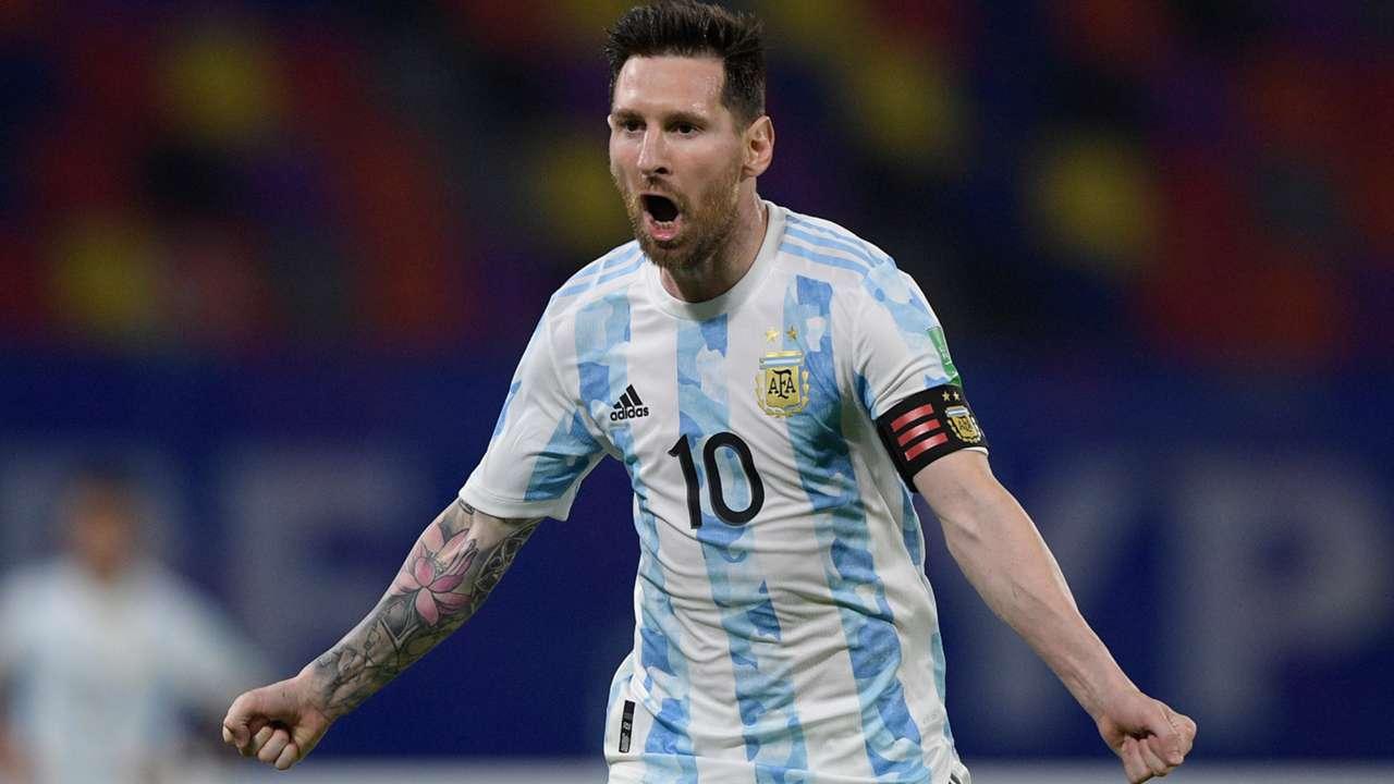 Messi Argentina celebrate 2021
