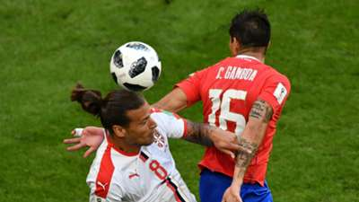 Aleksandar Prijovic Serbia Cristian Gamboa Costa Rica