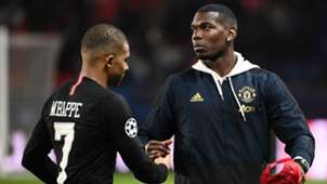 Kylian Mbappe Paul Pogba PSG Manchester United 2018-19