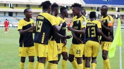 Tusker celebrate win.