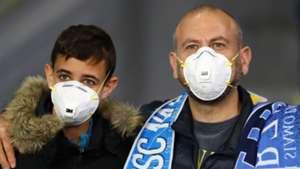 Napoli fans in masks, Coronavirus, COVID-19