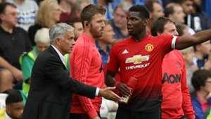 Jose Mourinho Paul Pogba Manchester United 2018-19