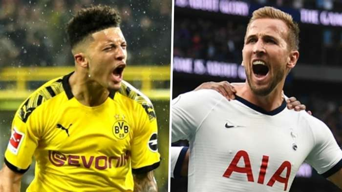 Jadon Sancho Harry Kane