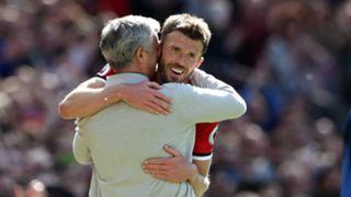 Jose Mourinho Michael Carrick Manchester United