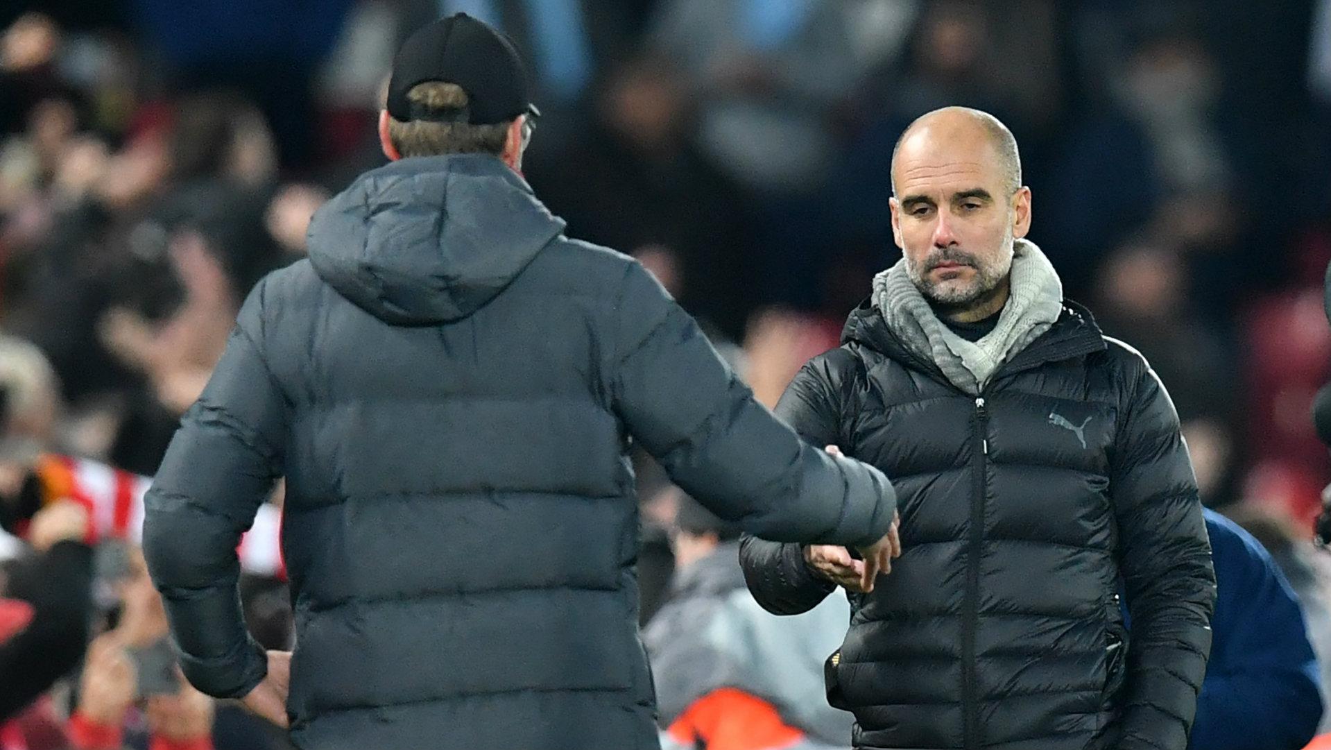 Pep Guardiola Liverpool vs Man City 2019-20