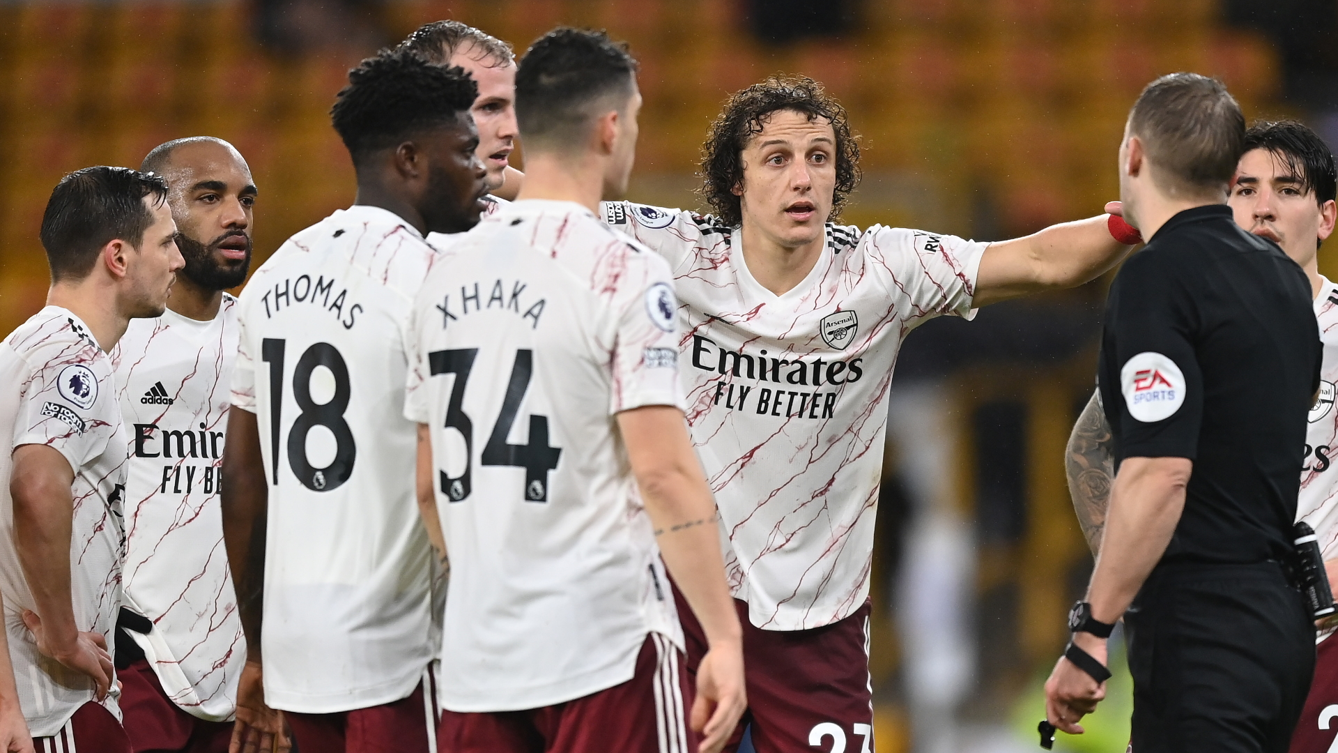 'Insanely harsh' - David Luiz red card in Wolves vs Arsenal clash sparks furious debate