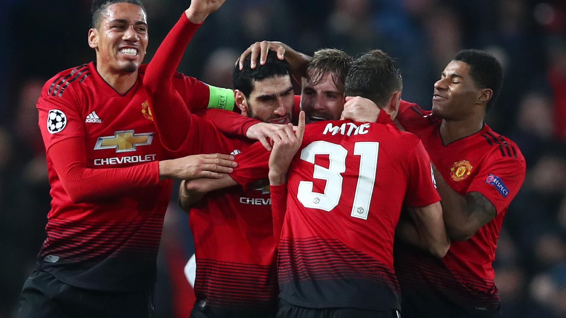 Man Utd celebrate vs Young Boys