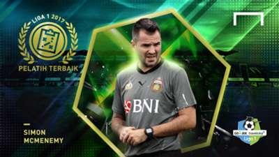 Pelatih Terbaik Liga 1 2017 - Simon McMenemy