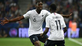 Paul Pogba Ousmane Dembele France international friendlies 2018