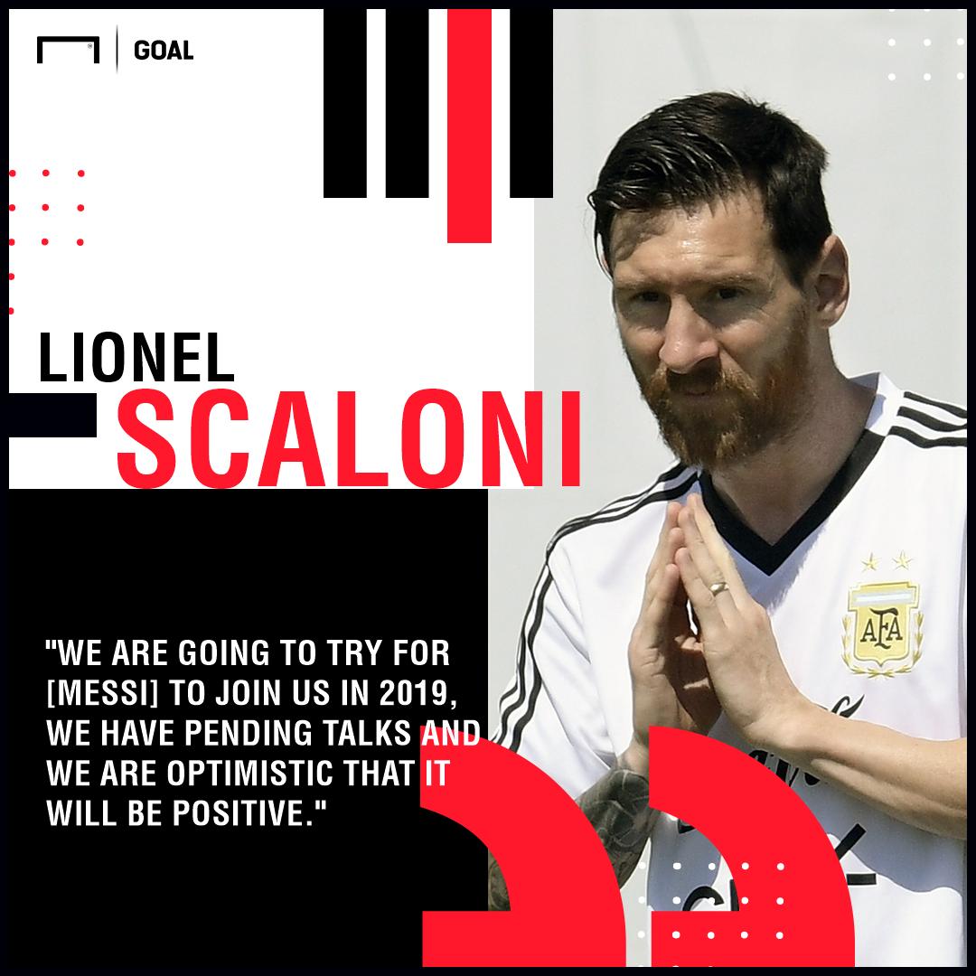 GFX Lionel Scaloni Lionel Messi Argentina