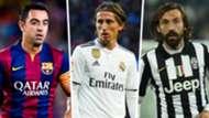 Xavi Luka Modric Andrea Pirlo