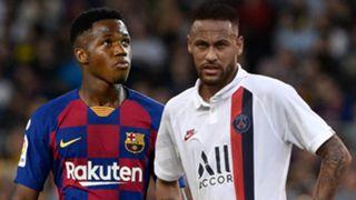 Ansu Fati Neymar Barcelona PSG