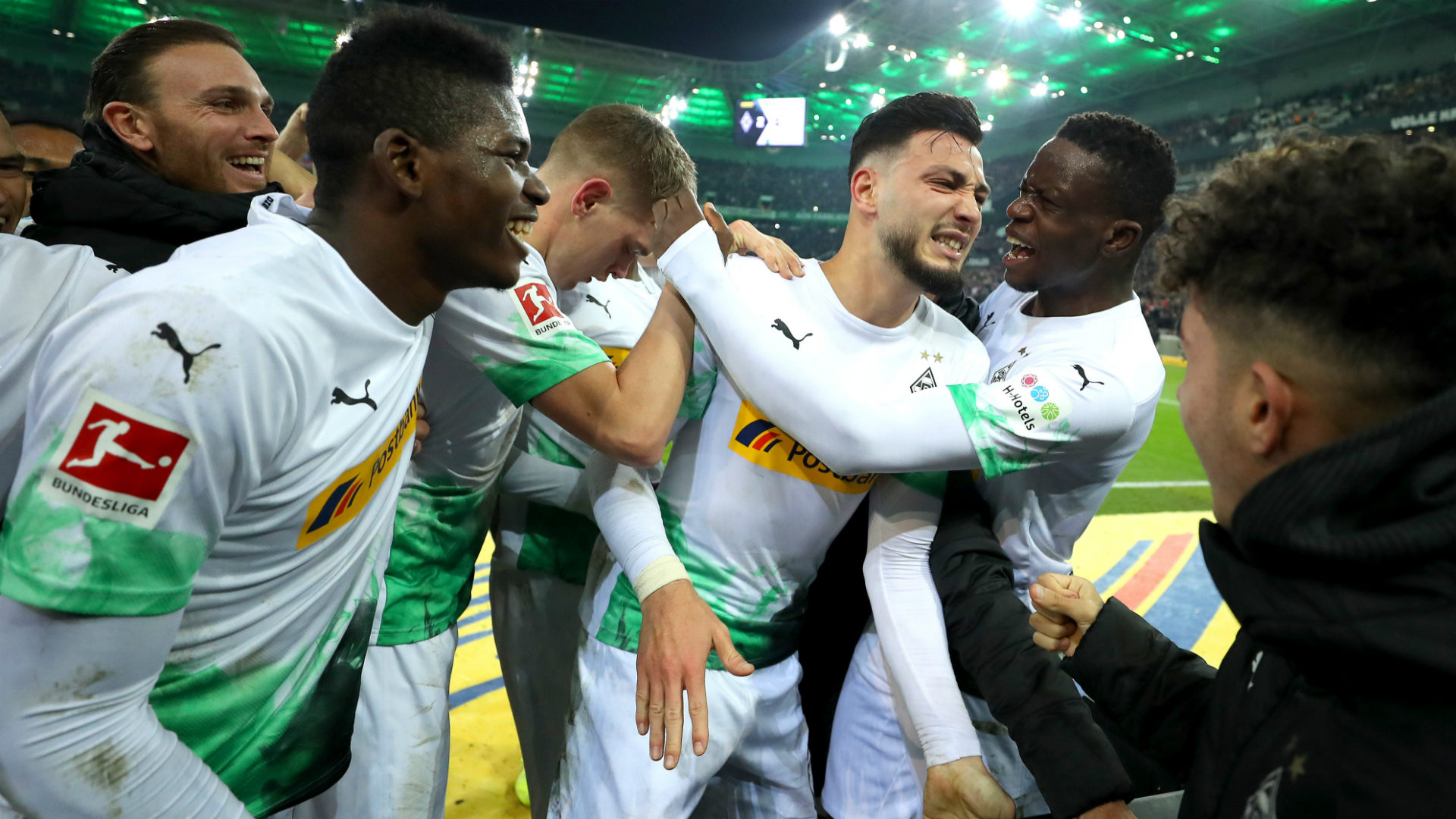 Monchengladbach's Bensebaini provides assist in 4-1 bashing of Ujah's Union Berlin