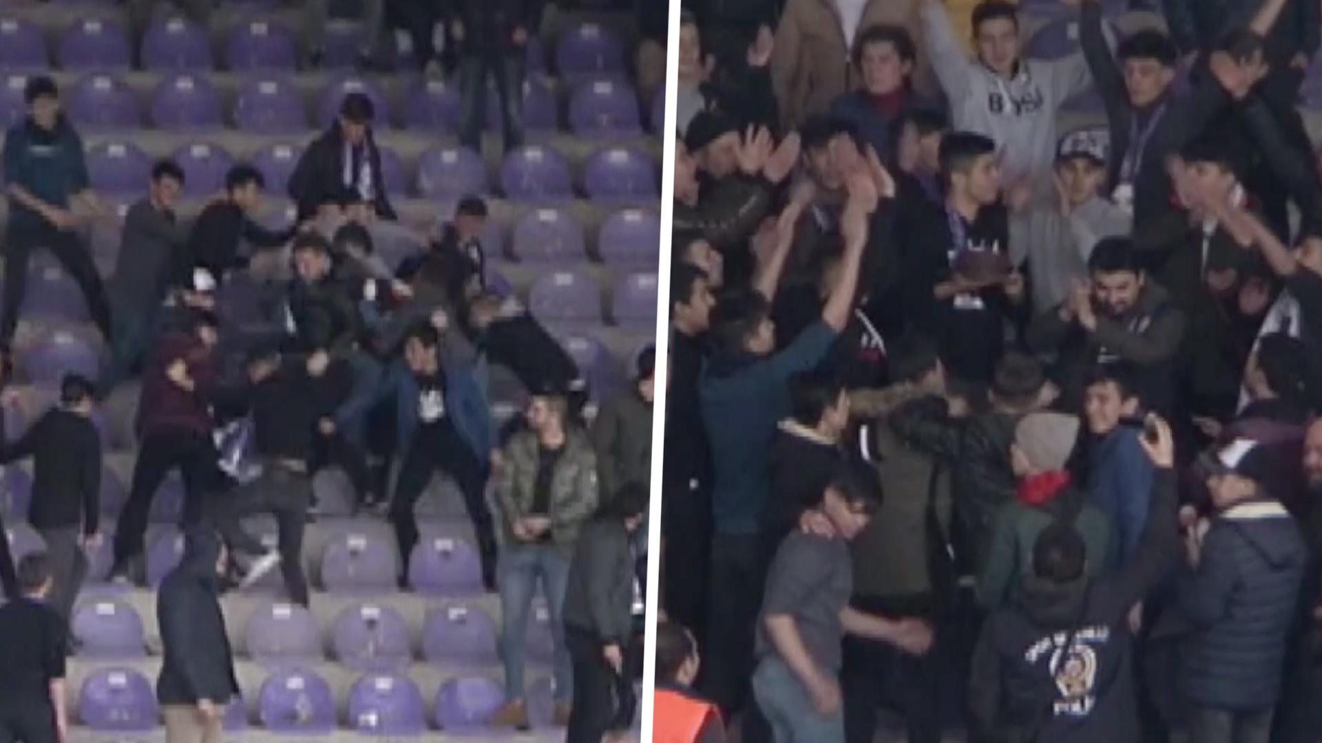 Superb Surprise Turkish Fans Stage Stadium Fight To Deliver Birthday Funny Birthday Cards Online Aeocydamsfinfo