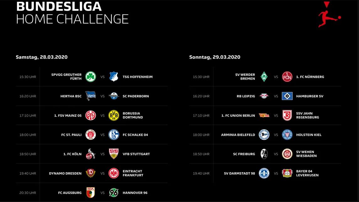 Bundesliga Home Challenge Ergebnisse