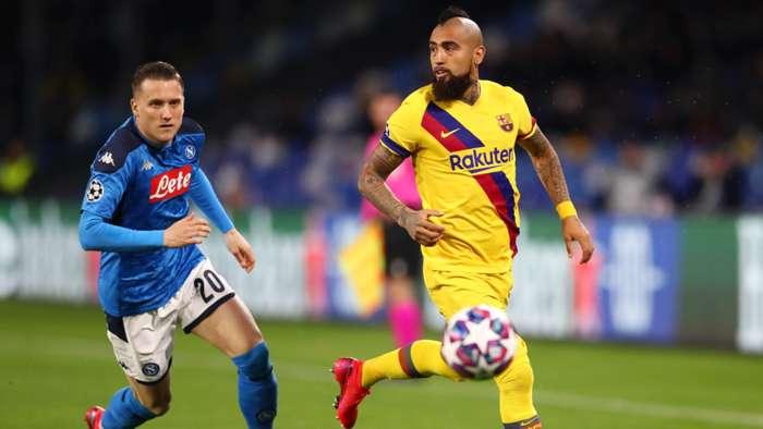 Zielinski Vidal - Napoli Barcelona