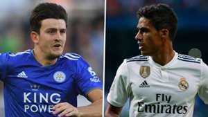 Harry Maguire Raphael Varane Leicester Real Madrid