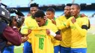 Kermit Erasmus Sundowns celebrate Ngcongca
