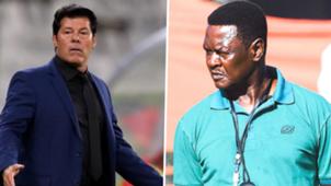 Yanga coach Luc Eymael and Boniface Mkwasa.