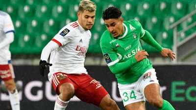 Aimen Moueffek Bruno Fernandes Lyon Saint-Etienne Ligue 1 24012021