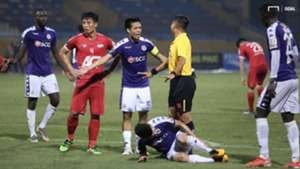 Nguyen Van Quyet vs Bui Tien Dung Ha Noi FC vs Viettel Round 23 V.League 2019