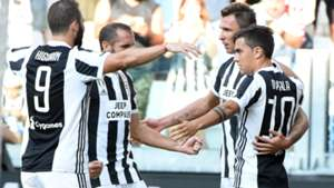 Juventus celebrating Serie A