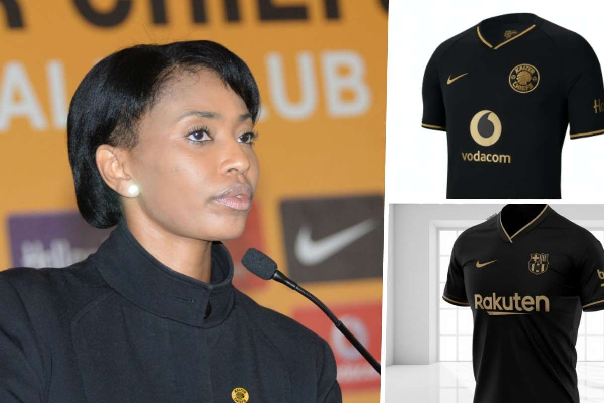 Barcelona S New Away Jersey Took Kaizer Chiefs By Surprise Jessica Motaung Goal Com