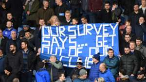 Everton fans banner