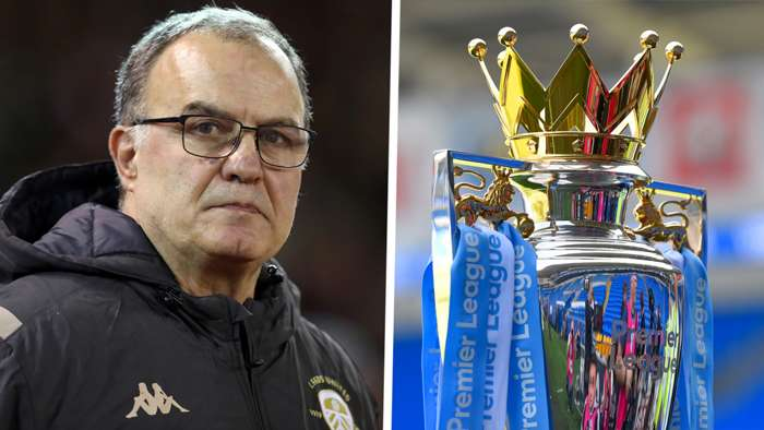 Marcelo Bielsa Leeds United Premier League trophy