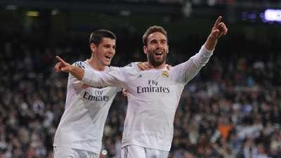 Daniel Carvajal Alvaro Morata Real Madrid La Liga