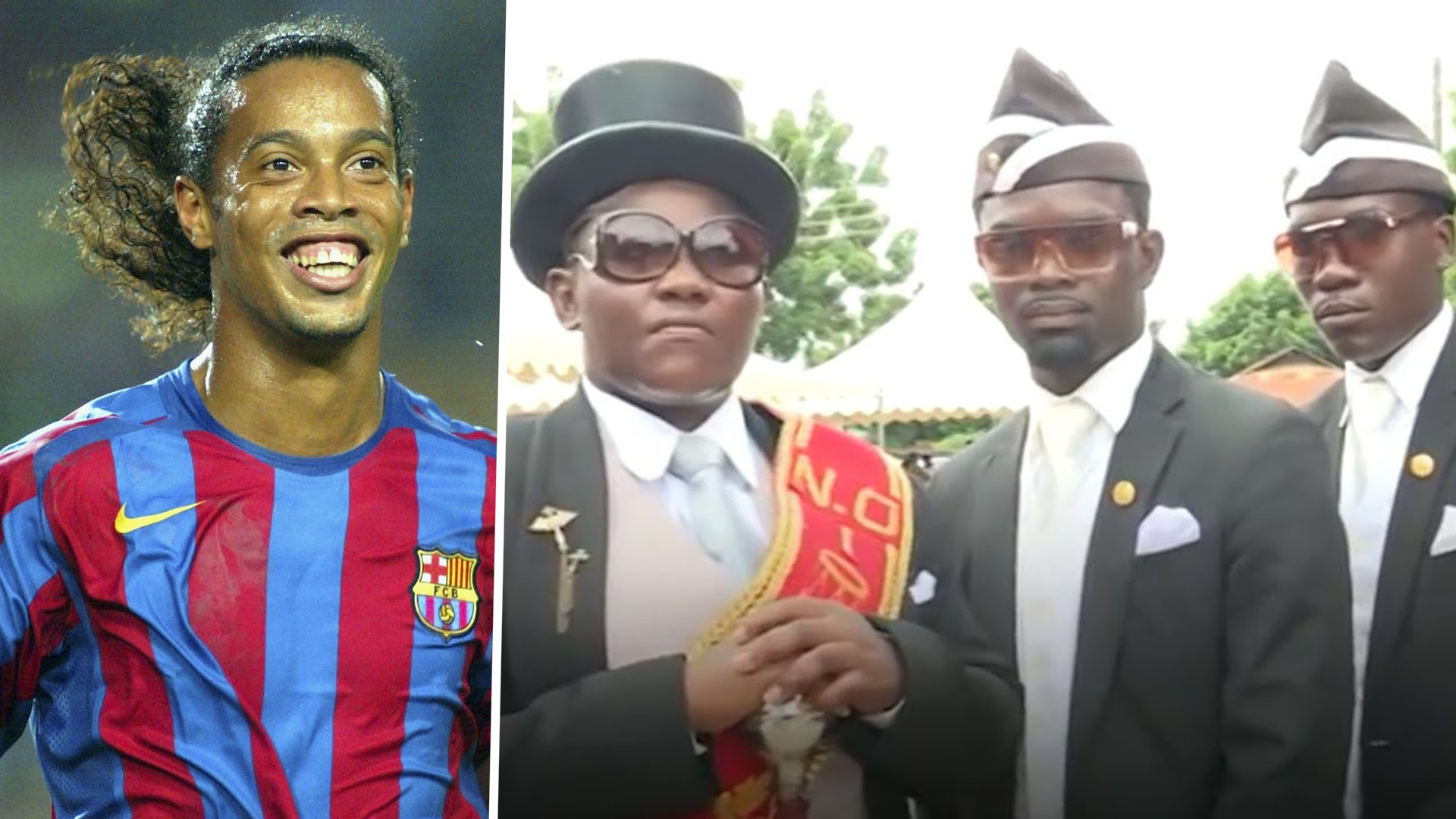 Coffin dance' pallbearer picks Ronaldinho as the footballer he ...