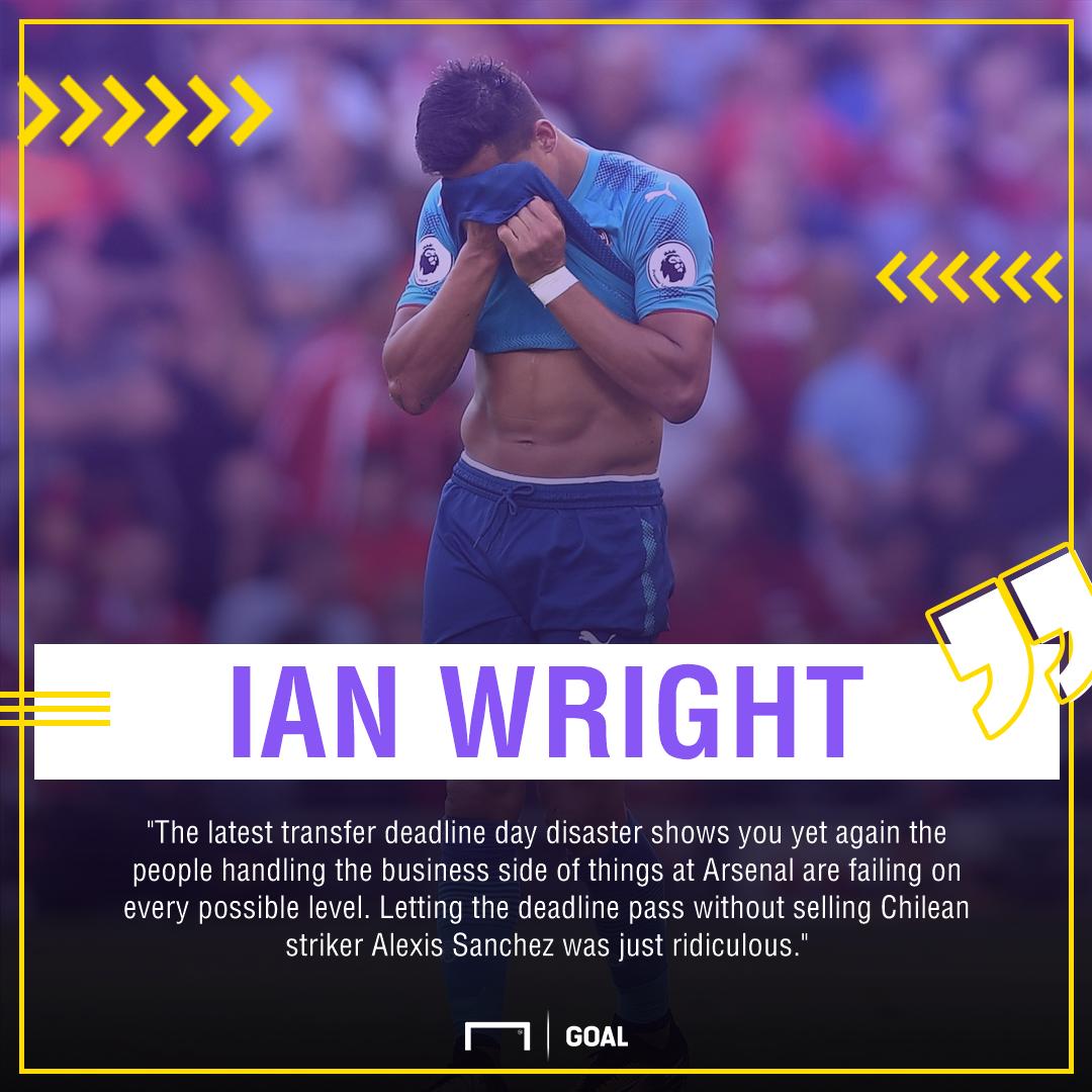Ian Wright Arsenal Alexis Sanchez