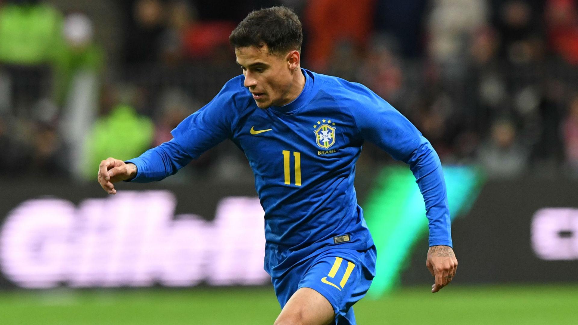 Philippe Coutinho Brazil Russia international friendly