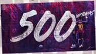 Messi 500 victorias