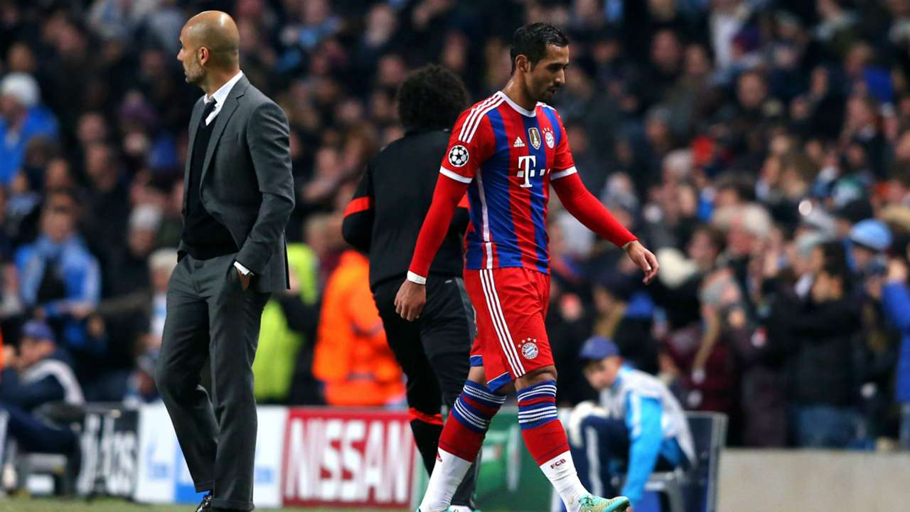 Mehdi Benatia and Pep Guardiola - Bayern Munich 2014
