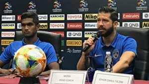 Hariss Harun, Benjamin Mora, Johor Darul Ta'zim v Gyeongnam, AFC Champions League, 11 Mar 2019