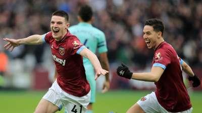 Declan Rice Samir Nasri West Ham Arsenal