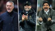 Best Manager celebations Mourinho Klopp Maradona