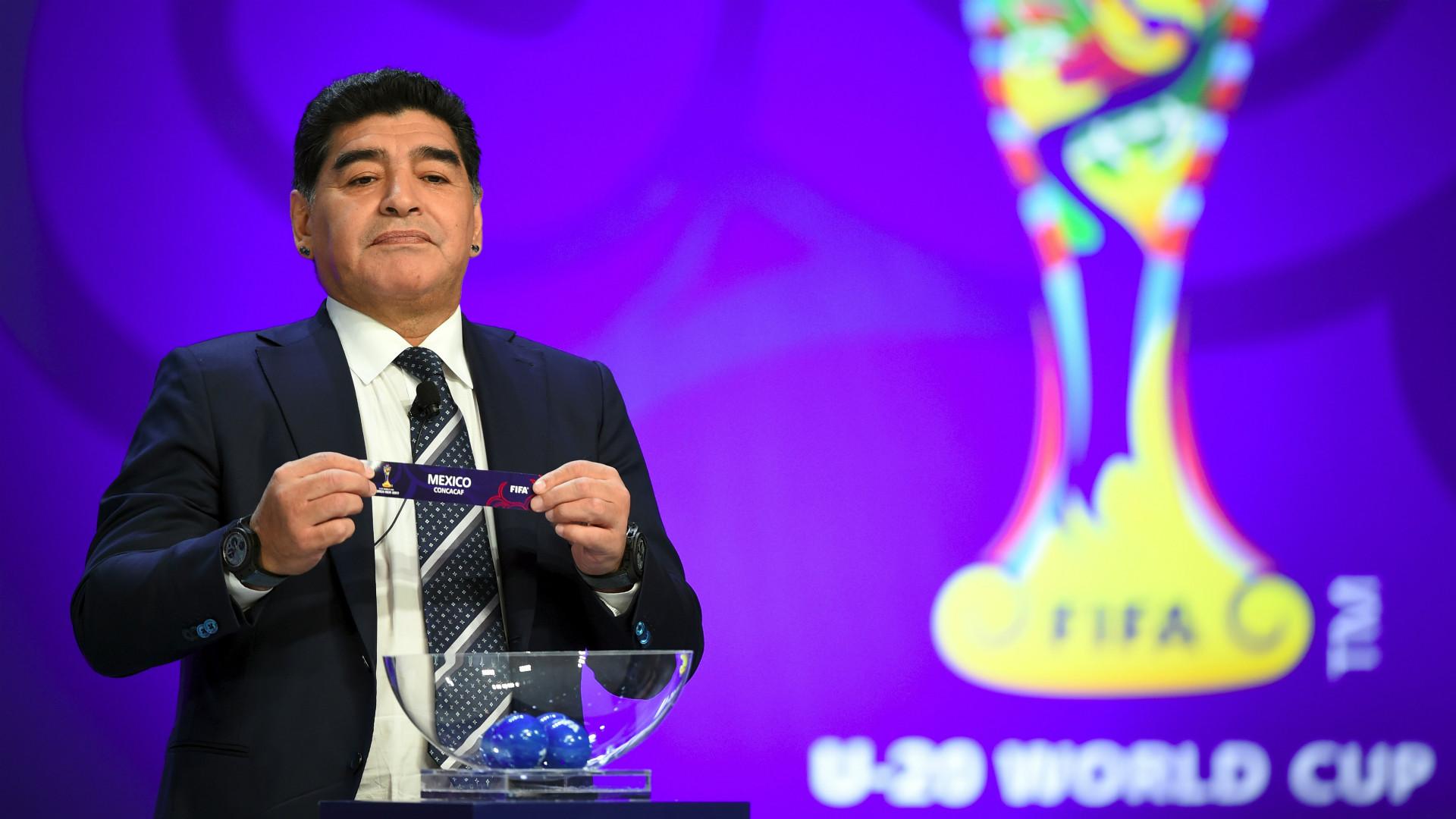 Diego Maradona World Cup draw